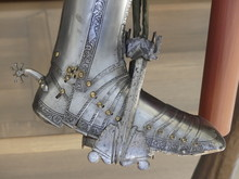 Close Up Of Armored Boot With ...