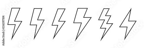 Foto Lightning bolt icon