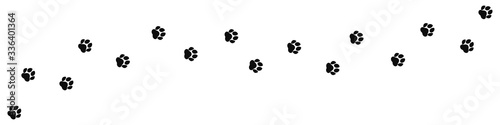 Obraz Paw print. Footprint silhouette on white background. Vector illustration. EPS 10 - fototapety do salonu