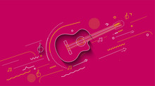 Electric Guitar Icon. Outline ...