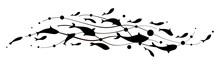 Fish Wave. Decorative Flock Of Fish. Logo Design Template. Vector Illustration.