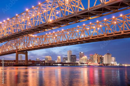 New Orleans, Louisiana, USA at Crescent City Connection Bridge © SeanPavonePhoto