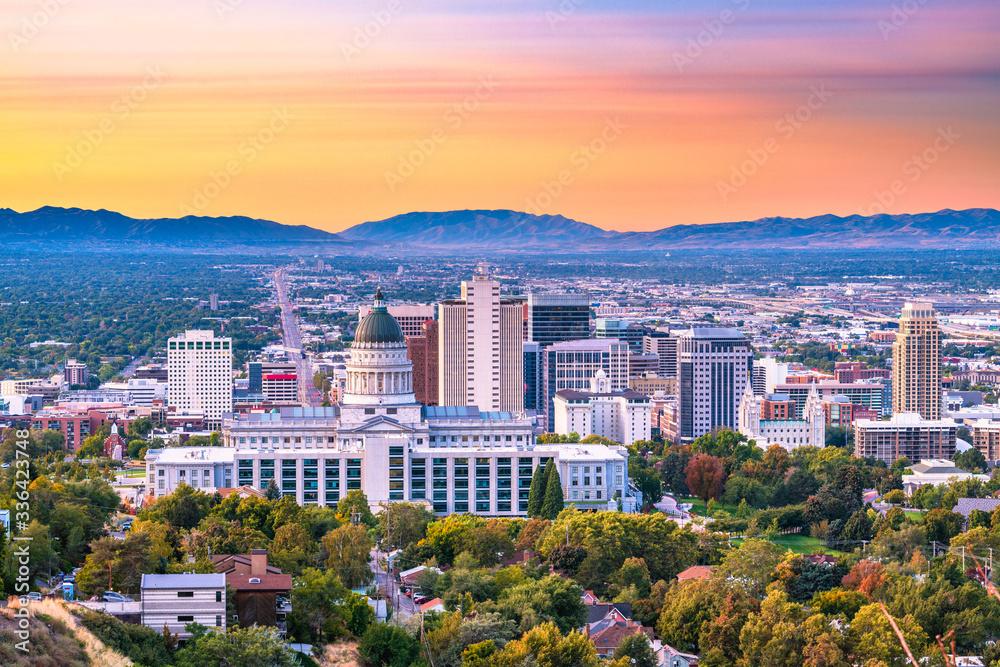 Fototapeta Salt Lake City, Utah, USA