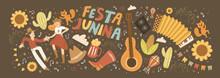 Festa Junina! Vector Cute Illu...