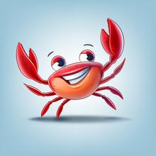 Red Crab Cartoon