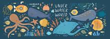 Underwater World! Vector Cute ...