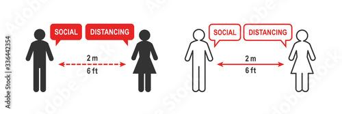 Fotografia Social distancing sign