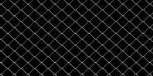 Steel Wire Mesh On Black Background. 3d Illustration