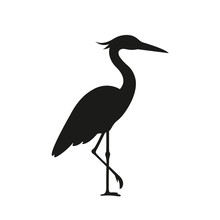 Heron Logo On A White Background