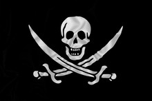 Pirate Flag With Skull And Swo...
