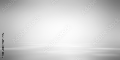Fotografia, Obraz Gray empty room studio gradient used for background and display your product