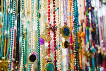 Close Up Of Colorful Beads For...