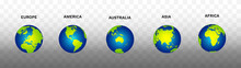Earth Globe Map Vector Illustr...