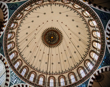 Dome Of The Rüstem Pasha Mosque In Istanbul Turkey