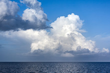 Heavy White Clouds Over Indian Ocean