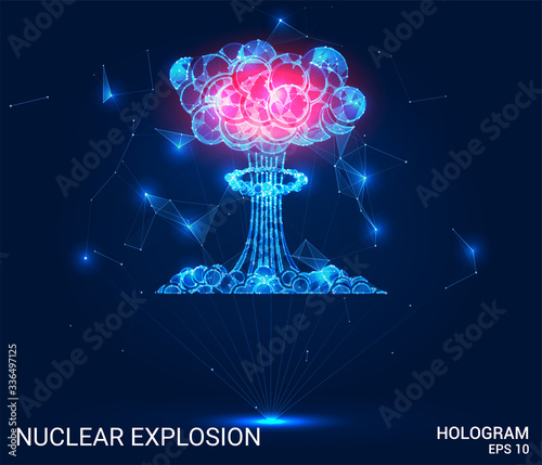 Photo Hologram of a nuclear explosion