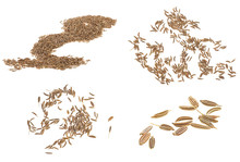 Cumin Seeds Isolated On A Whit...