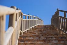Escalera Exterior De Piedra Co...