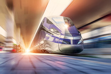 High Speed Train On A Clear Da...