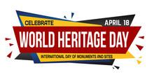 World Heritage Day Banner Design