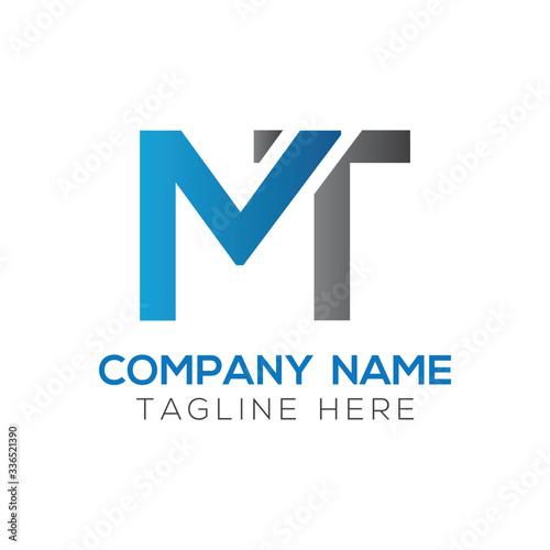 Obraz na plátně Initial MT letter Logo Design vector Template