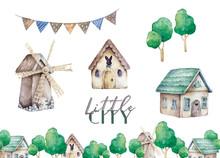 Farms Little City Set. Cute Do...