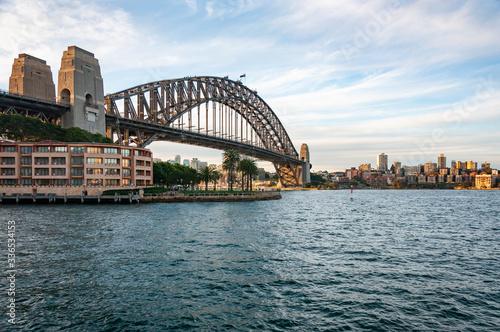 The harbour bridge in the bay of Sydney, Australia