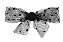 A Polka Dot Lace Gift Bow In B...