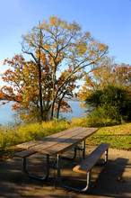 Picnic Table At Table Rock Lake