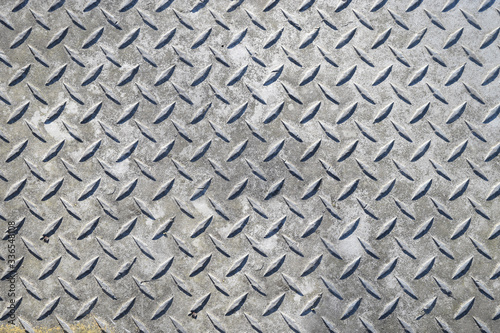 Abstract metal diamond plate background