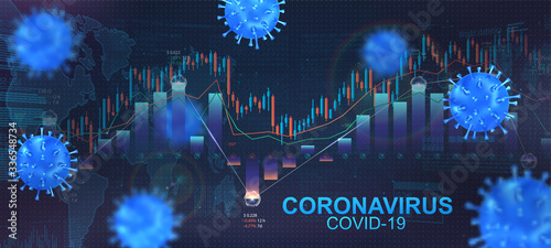 Fényképezés The impact of coronavirus on the stock exchange and the global economy