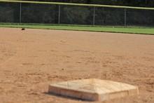 Home Plate Of Baseball Field