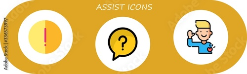 assist icon set Canvas Print