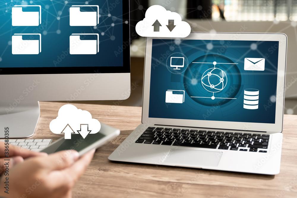 Fototapeta load Backup LIVE STREAMING Backup Download Computing Digital Data transferring , STREAMING Download
