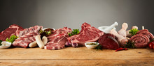 Selection Of Gourmet Meats On ...