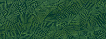 Tropical Banana Leaf Wallpaper...