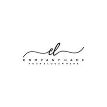 CL Initial Handwriting Logo Ve...