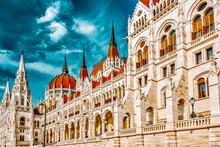 Hungarian Parliament Close-up....