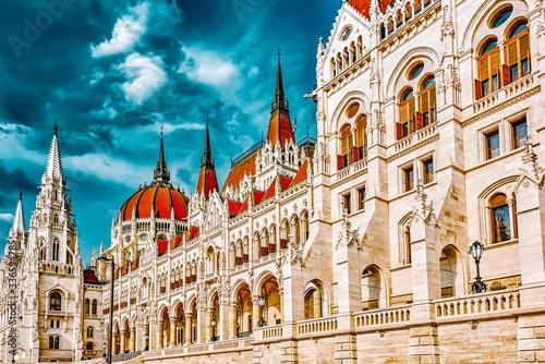 Fotografija Hungarian Parliament close-up