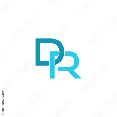 Initial DR Letter Logo With Creative Modern Business Typography Isolated On Whit Wallpaper Mural