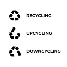 Recycle, Upcycle, Downcycle Icon
