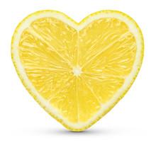 Lemon Heart Concept On White