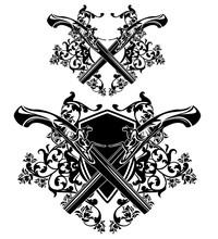 Antique Dueling Pistols Crosse...