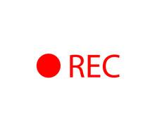 Red Record Icon, Record Vector Or Recording Symbol