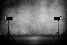Empty Photo Studio With Lighti...