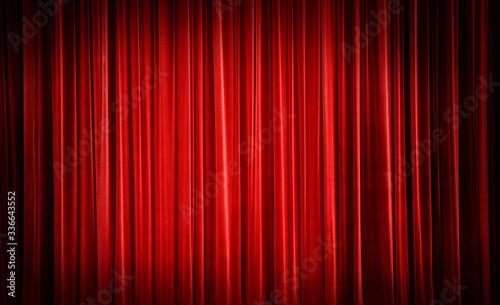 Obraz na plátně Red curtain background.