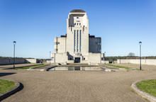 Radio Kootwijk Former Broadcast Tower In The Netherlands Where Short And Longwave Broadcasting Were Done To Indonesia Symmetric Image Of The Main Building