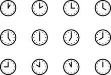 時計のアイコン、ピク...