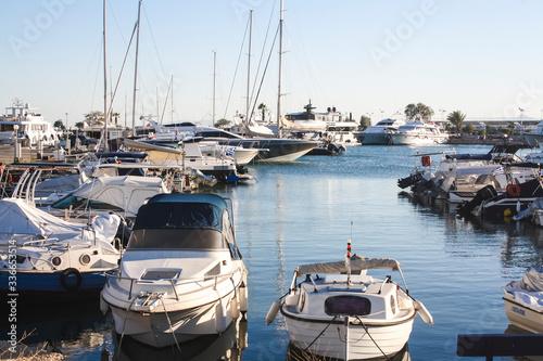 Piraeus port in the region of Attica, Greece Canvas Print