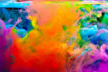 Colorful Watercolor Drops In T...